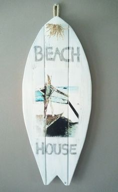 Beach House: <br> Surfboard landelijke stijl | Karin's Deco Atelier