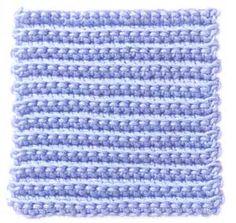 Bernat: Stitch Gallery - Back Loop Single Crochet
