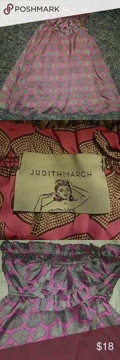 Judith March Strapless Dress Size medium   excellent condition Judith March Dresses Strapless