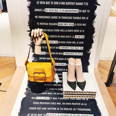 "GALERIES LAFAYETTE, Paris, France, ""A women can carry a bag, but it is the shoe that carries the women"", photo by Good Morning VM, pinned by Ton van der Veer"