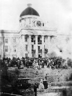 Jefferson Davis's inauguration as the first and only President of the Confederate States of America---Montgomery, Alabama