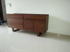 soild wood sideboard