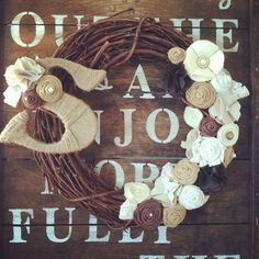 Maybe one day I'll learn to DIY this wreath but for now I give all the credit to Michelle at TealandOrange.