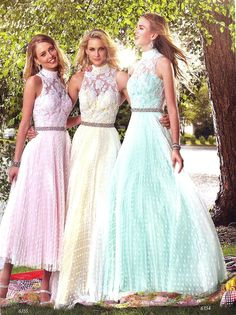 Prom Dresses Evening Dresses by Alyce Paris<BR>6355<BR>pleated polka dot tulle, tea length, A-line skirt