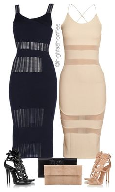 """On a Friday"" by highfashionfiles ❤ liked on Polyvore featuring Roland Mouret, Giuseppe Zanotti, Perrin and Primary"