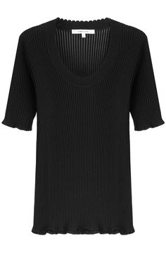 CARVEN Ribbed Cotton Top With Silk. #carven #cloth #top