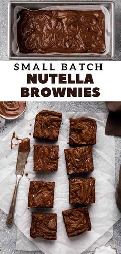 Brownie Recipes, Chocolate Recipes, Dessert Recipes, Desserts, Boxed Brownies, Nutella Brownies, Delicious Recipes, Sweet Recipes, Yummy Food