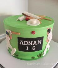 Cricket Cake for my Son's Friend Boy Birthday, Birthday Cakes, Cricket Cake, Piece Of Cakes, Themed Cakes, Cake Art, Cake Ideas, Bike, Baking