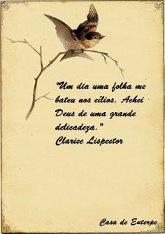 """Casa de Euterpe: """"Um dia uma folha... - Clarice Lispector"""