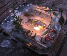 Holly and Ivy Ice Lanterns