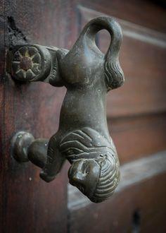 """Lion shaped door knocker"" Antigua Guatemala by José M. Hosttas"