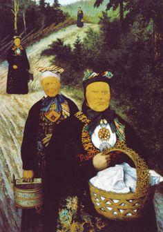 THEODOR KITTELSEN (1857–1914), Grautkjerringer (malt i Sigdal 1904) (Old women with Porridge)
