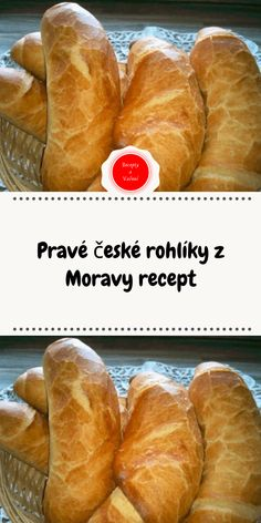 Pravé české rohlíky z Moravy recept Czech Recipes, Ethnic Recipes, Good Food, Yummy Food, Almond Cream, Cheesecake Recipes, Hot Dog Buns, Food Dishes, Food And Drink