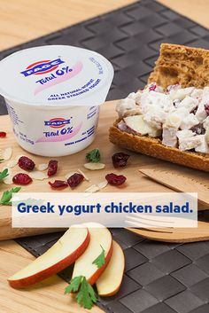 Turn your lunch break into a moment worth savoring with this chicken salad made with creamy FAGE Total Greek yogurt.