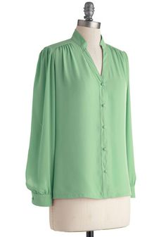 The Grand Tour Guide Top in Mint, #ModCloth