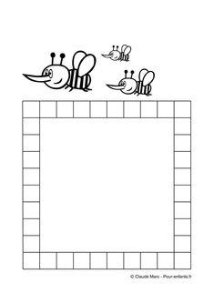 Frise maternelle maths frises GEOMETRIQUES ps ms gs frise DECORATIVE activités enfant école maternelle dessin d abeilles frise ACTIVITE de coloriage