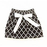 Black and White Damask Skirt