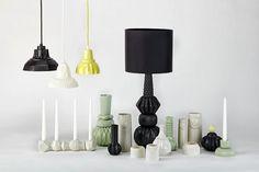 beautiful lamps and pendant lights from Finnsdottir Ceramics