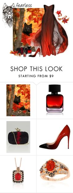 """""""Fearless Beauty"""" by love-n-laughter ❤ liked on Polyvore featuring The Collection by Phuong Dang, Monique Lhuillier, Givenchy, Christian Louboutin and LE VIAN"""