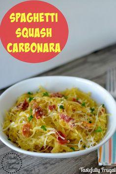 Spaghetti Squash Carbonara  @tastefullyfrgl