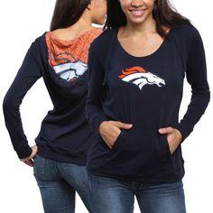 Denver Broncos Women's Sublime Knit Hoodie - Blue