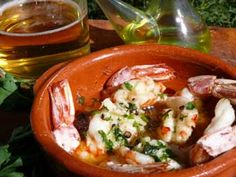Spanish recipe for butterflied king prawns in garlic butter - the king of all tapas recipes! Find out more great ideas full of flavour from southern Spain. Spanish Cuisine, Spanish Tapas, Recipe Journal, Food Journal, Tapas Recipes, Cooking Recipes, Garlic Butter, Canapes, Prawn