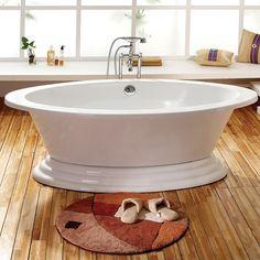 "Sale - 72"" Kyra Acrylic Oval Freestanding Tub on Plinth"