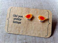 Oiseau jaune stud earring posts on Etsy, 3,86€