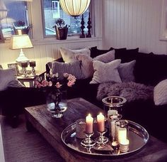 Cozy & Stylish! Love all the pillows!