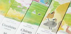 Premium organic green tea 'Water color package' SAUDADE TEA