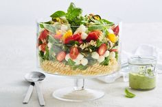 Bocconcini and tomato pasta salad