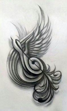 New Music Tattoo Treble Clef Songs Ideas Music Drawings, Music Artwork, Pencil Art Drawings, Art Drawings Sketches, Tattoo Drawings, Logo Sketches, Music Tattoo Designs, Music Tattoos, Body Art Tattoos