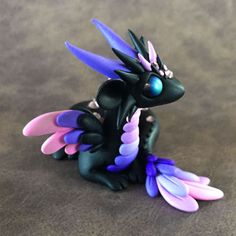 Purple-Angel-Dragon-Sculpture by Dragons and Beasties