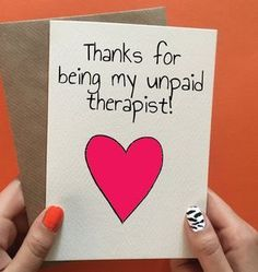 Funny thank you or birthday card for best friend. Not got an occasion? Pin it to your gift ideas and save it for later day cards for friends diy