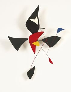 Black Cross and Red Feather by Alexander Calder