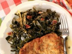SOOO easy to make, and quicker than normal. I made a batch for myself and ate it at lunch all week. Braised Collard Greens with Bacon from CookingChannelTV.com