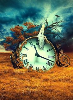 art surrealista Girl sitting on a clock in the middle of a field surreal art Foto Fantasy, 3d Fantasy, Art Du Temps, Twilight Stars, Arte Pop, Time Art, Time Time, Surreal Art, Photo Manipulation