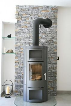 Facing stones can perfectly complement almost any living style Fireplace Frame, Cottage Fireplace, Stove Fireplace, Fireplace Surrounds, Fireplace Design, Wood Stove Heater, Log Burner, Living Styles, Home Remodeling
