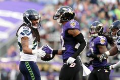 The Seattle Seahawks arrived by storm, and took the castle as their own. The Baltimore Ravens allowed five touchdown passes, and did nothing but watch the Seattle touchdown dances. Seahawks Football, Seattle Seahawks, Football Helmets, Watch Nfl Live, Nfl Redzone, Game Live Stream, Thursday Night Football, Nfc West, Nfl Network