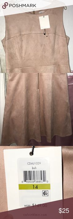 Formal dress I am not able to put the whole image of the dress, so I broke it up into two. It is a light pink/blush colored dress from Calvin Klein. I never wore this and still has it's tag. There is a zipper at the back that goes down your spine. I am 5'3 and it lands around my knee. Calvin Klein Dresses Midi