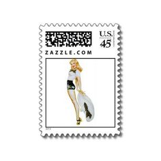 Sold two more of these stamps, I love them!  http://www.zazzle.com/vintage_retro_pin_up_girl_blonde_with_huge_hat_postage-172215486066924477?rf=238294269390097475