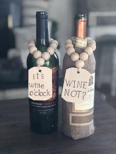 Fall Crafts, Crafts To Make, Diy Crafts, Wood Bead Garland, Beaded Garland, Burlap Flowers, Wine Bottle Crafts, Bead Crafts, Wooden Beads