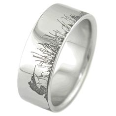 Ultimate Deer Hunting Ring, Hunting Scene Rings - Titanium-Buzz.com Maybe this is an opportunity for wedding ring for my man!