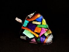 Over 20 pcs of dichro glass make up this piece!