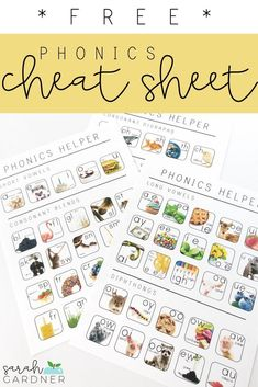 Phonics Cheat Sheet FREEBIE This set of reference sheets will help to ease the New Classroom, Classroom Community, Classroom Ideas, Consonant Digraphs, Sound Wall, Phonics Blends, Writing Folders, Homeschool Kindergarten, Homeschooling