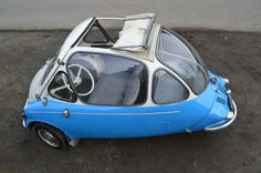1956 Heinkel Kabine microcar convertible! <3 it!!!  It's for sale on Ebay right now!