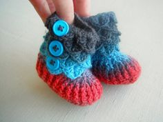 Crochet booties from Dover & Madden