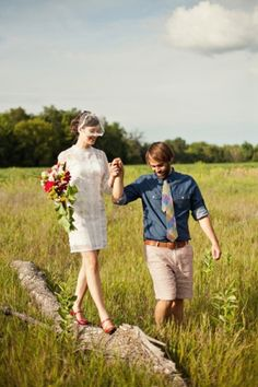 This is the most perfectly perfect intimate camp wedding!