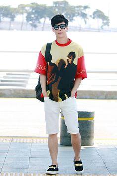 150513- EXO Lay (Zhang Yixing); Incheon Airport to Shenzhen Airport #exom #fashion #style