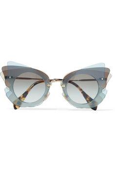 Miu Miu - Cat-eye Acetate Sunglasses - Gray?openInBrowser=true